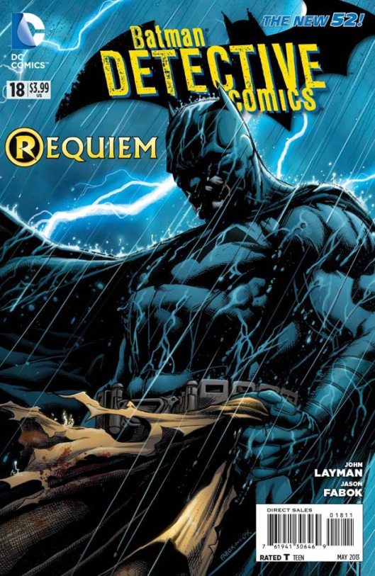 ปก Batman : Detective Comics #18 บทเพลงให้กับผู้จากไป