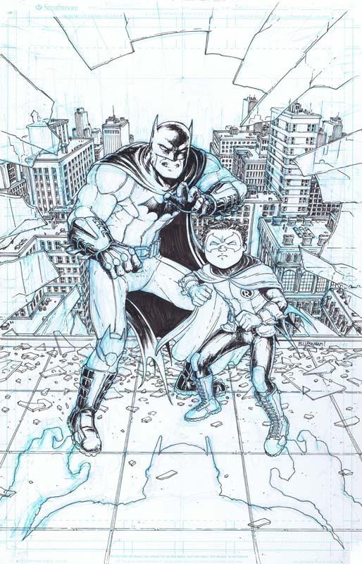 ภาพวาดดั้งเดิมของ Batman Inc #8 เผยฉากจบที่รุงแรงกว่าฉบับตีพิมพ์