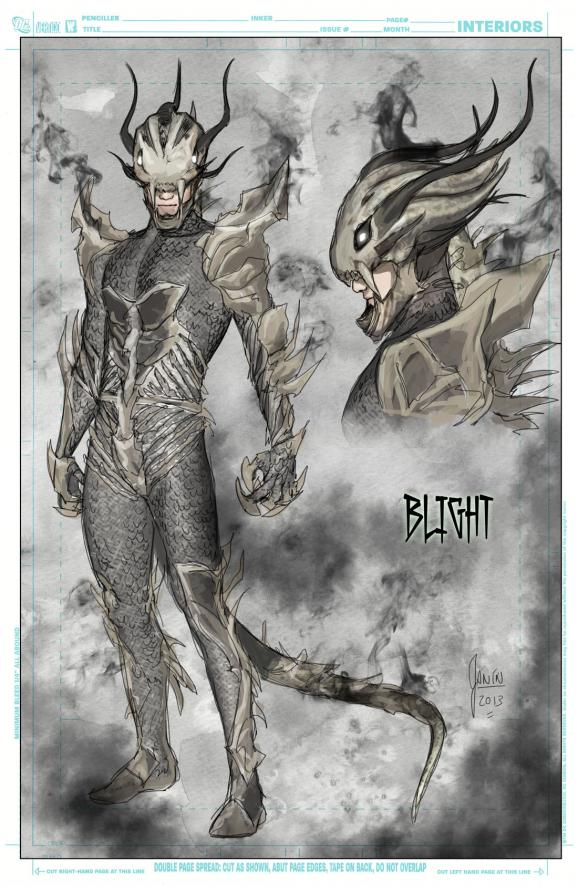 Blight design by Mikel Janin